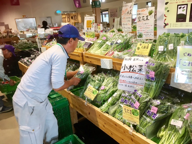 松岡重伸さんから葉物野菜届きました!!