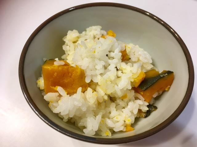 かぼちゃご飯を炊いてみた
