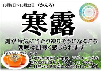 24節気 寒露(柿)