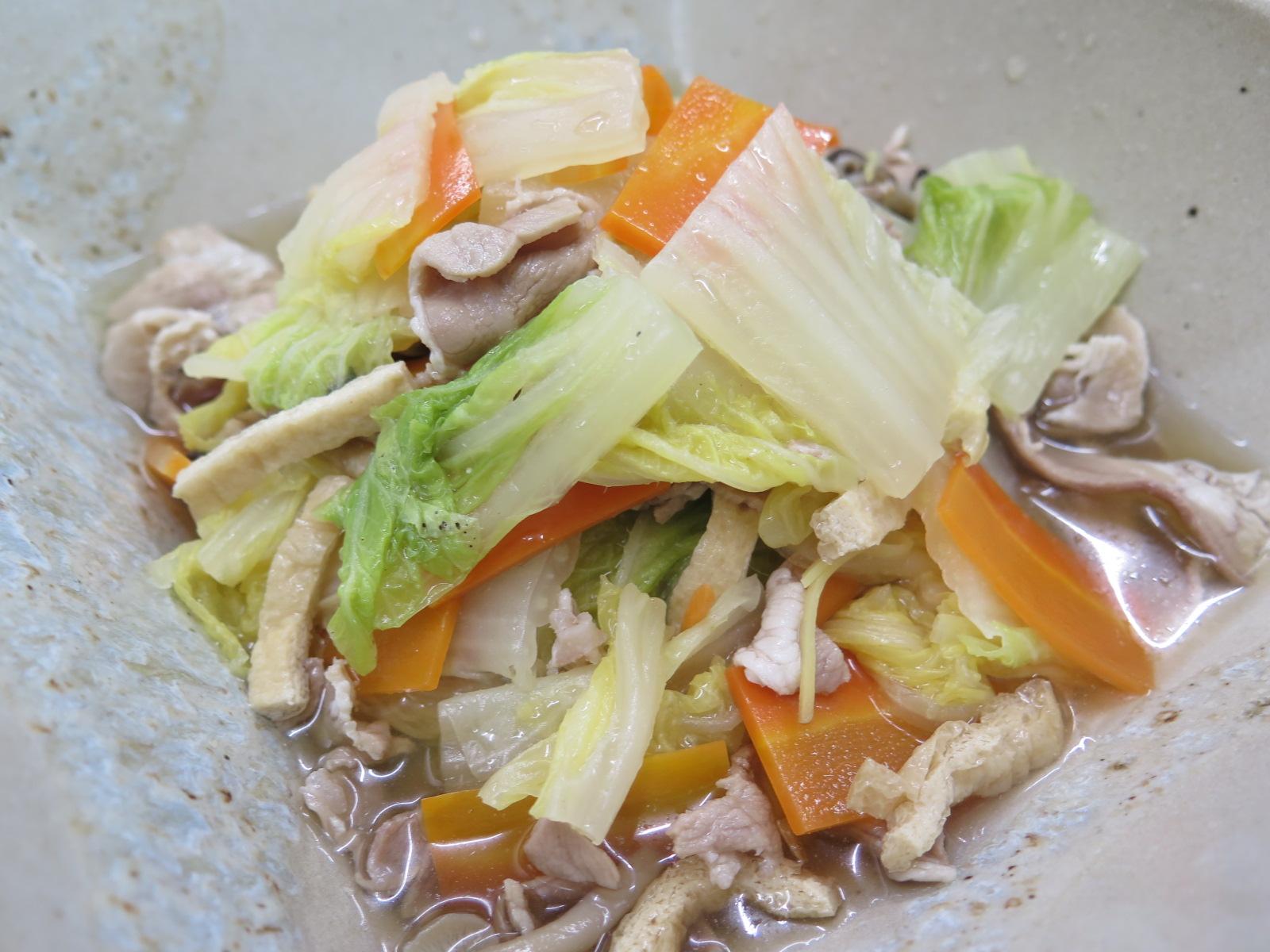 白菜の生姜煮