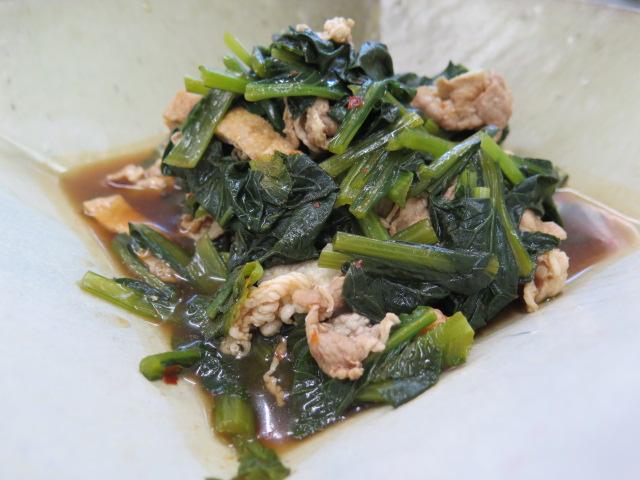 畑菜の韓国風煮