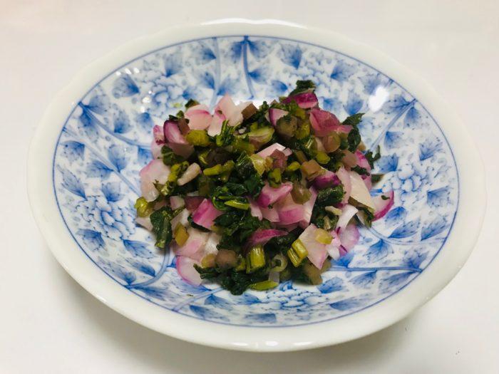 日野菜の漬物