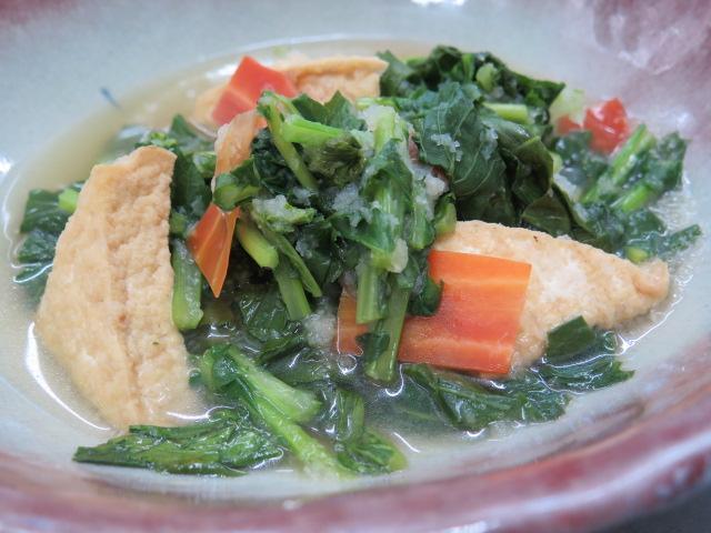 畑菜と厚揚げのおろし煮