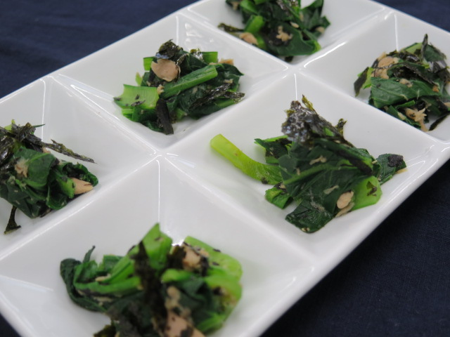 小松菜とツナの海苔和え