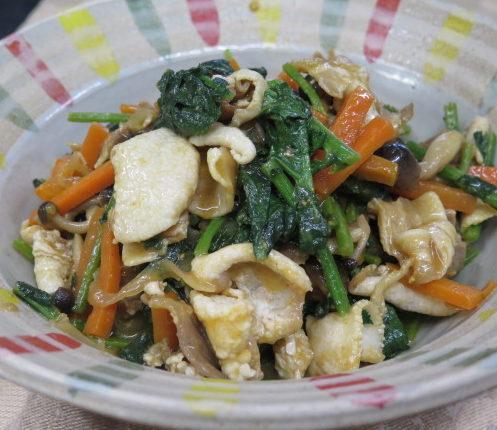 みずき菜の炒め物